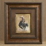 "#TC-2202420      $146.28 bronc Rider  19"" x 21"" This print is framed & double mattted"